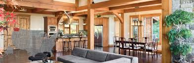 Small Timber Frame Homes Washington Log And Timber Frame Homes By Precisioncraft