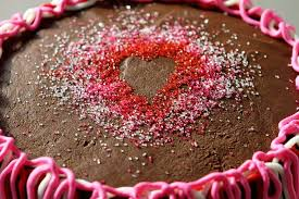 How To Decorate Heart Shaped Cake How To Create Designs In Sprinkles I Am Baker
