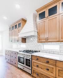 farmhouse kitchen with oak cabinets gorgeous modern farmhouse style kitchen with custom stained