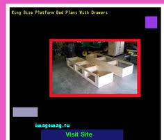 King Size Platform Bed Plans Drawers by King Platform Bed Plans With Drawers 100708 The Best Image