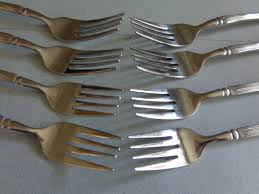 kitchen forks and knives rogers cascade flatware vintage silverware four 5 place