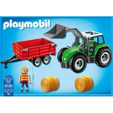 Anniversaire Tracteur by Tracteur Avec Pelle Et Remorque Playmobil Country 6130 U2013 La