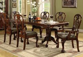crown mark brussels double pedestal dining table in luscious brown