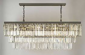 Rectangle Chandeliers Retro Odeon Glass Fringe Rectangular Chandelier Chandeliers