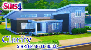 Starter Homes by Sims 4 House Build Modern Clarity 2 Bedroom Starter Home Youtube