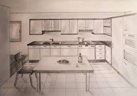 furniture for the kitchen how to draw one point perspective kitchen with furniture desk