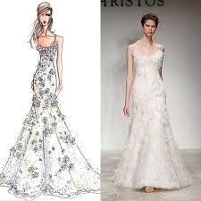 designer wedding dress designer wedding gowns from sketch to dress brides