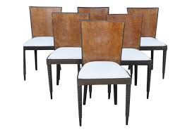 Art Deco Dining Room Sets Fabulous Art Deco Chairs Set Of 6 Omero Home