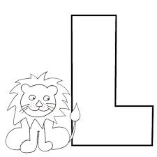 alphabet colorie le l de l u0027alphabet comme lion alphabet tête