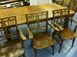 hand painted dining table and chairs in yorkshire traditional