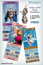 jennuine by rook no 17 movie ticket style frozen party
