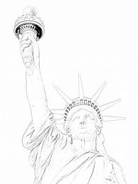 statue of liberty close up coloring page