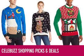 celebuzz u0027s amazon picks and deals ugly christmas sweaters celebuzz
