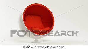 chaise boule banque d illustrations moderne rouges cocon chaise boule