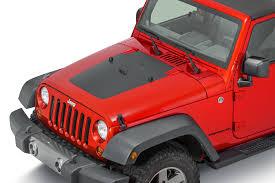 jeep cj hood mopar 82212345 hood black out decal kit for 07 12 jeep wrangler