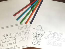 free printable birthday cards to color six clever sisters
