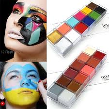 imagic famous brand flash tattoo face body paint oil painting art