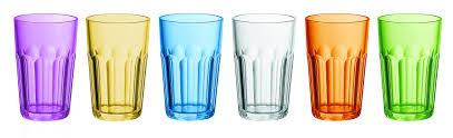 set bicchieri set 6 bicchieri multicolor molati alti guzzini