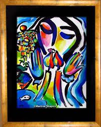 artist martina shapiro shabbat peace original jewish painting
