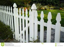 white picket fennce stock photo image 43291083