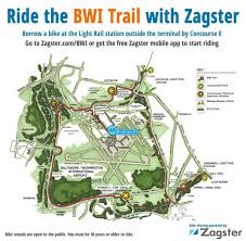 Light Rail Stops Baltimore The Bwi Hiker Biker Trail Bwi Airport