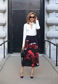 style blouse floral skirt choker blouse memorandum nyc fashion lifestyle