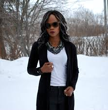 white shirt white necklace images Statement necklace black sweater white tee jpg