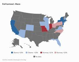 Romney Obama Map What Would The 2012 Election Have Looked Like With 100 Turnout