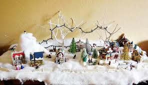Christmas Town Decorations Christmas Village Decor Christmas Lights Card And Decore