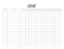 Monthly Bill Spreadsheet Monthly Bill Log Template