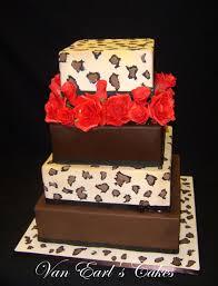 van earl u0027s cakes leopard print wedding cake