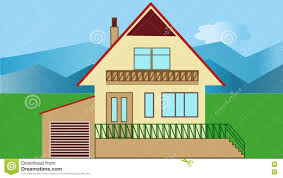 house construction company house building animated house construction in countryside with