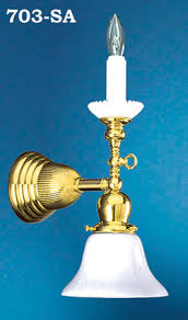 Electric Wall Sconces Vintage Hardware Lighting Gas Candle Early Electric