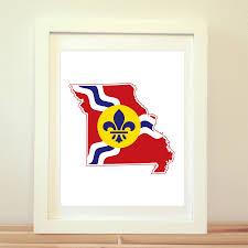 Misouri Flag Saint Louis Missouri St Louis Art St Louis Map St Louis Flag
