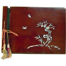 antique photo album japanese antique 19th c lacquered cherry wood photo album with