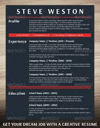 Bold Resume Template by Bold Cv Template By Resumepro Graphicriver