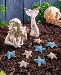 Mermaid Garden Decor Mermaidgardenornaments Blue Ceramic Sitting Mermaid Statue 10