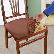 dining chair seat cover soft stretchable removable machine washable seat