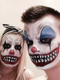 couple scary clown face paint halloween ideas pinterest