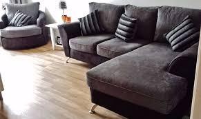 Swivel Cuddle Chair Corner Sofa Swivel Cuddle Chair Suite Scs Naples Grey Fabric Faux