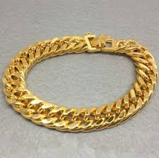 cuban chain bracelet images 7mm wide double curb cuban chain bracelet for men real yellow gold jpg