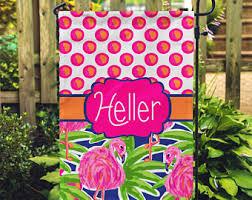 Personalized Garden Decor Flamingo Garden Art Etsy