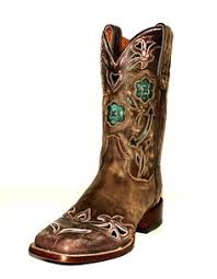 womens size 11 square toe cowboy boots lucchese 1883 s brown quill ostrich with blue