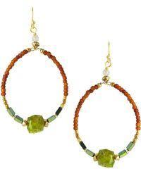 Nakamol Czech Crystal Beaded Chandelier Lyst Shop Women U0027s Nakamol Earrings From 25 Lyst Page 6