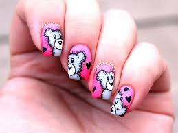 52 best teddy bear nail art tutorial u0026 videos by nded images on