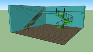 really cool spiral stairs and open tread staircase 3d warehouse
