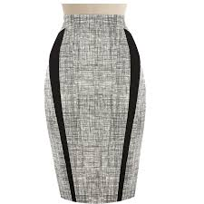 high waisted pencil skirt high waisted pencil skirt with black fabric trimming detail