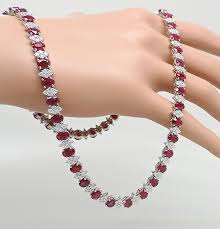 diamond necklace ruby images 20 inches zircon ruby necklace chain gleam jewels jpg
