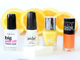 elle sees beauty blogger in atlanta how to orange creamsicle nails