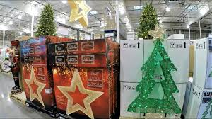 Christmas Tree Stores In Nj 4k Christmas Section At Costco Wholesale Christmas Shopping